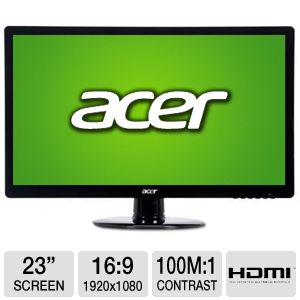 "Acer S230HL 23"" Class Widescreen LED Monitor"
