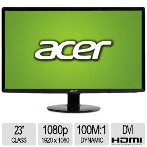 "Acer S231HL Bbid 23"" Class 1920x1080 LED Monitor"