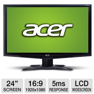 Acer G245HQ 24&quot; Class Widescreen LCD Monito REFURB
