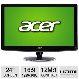 "Acer HS244HQ 24"" Widescreen 2ms 3D LED Monitor"