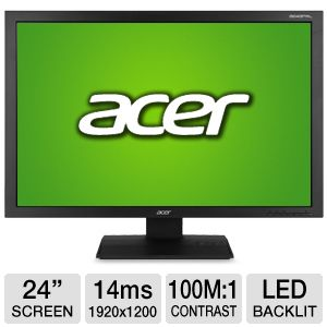 Acer B243PWL Kbmdrz 24&quot; Class LED Backlit Monitor