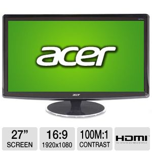 "Acer H274HL 27"" Class Widescreen LED Monito REFURB"