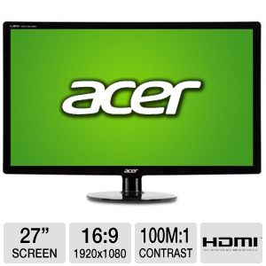"Acer S271HL 27"" Class Widescreen LED Monitor"