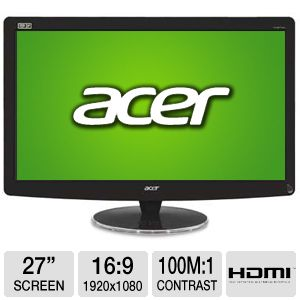 "Acer HN274H bmiiid 27"" Widescreen 3D LED Mo REFURB"
