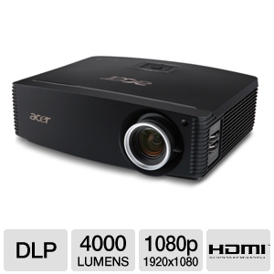 Acer P7500 1080p Home Theater DLP Projector REFURB