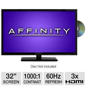 Affinity LE3259D 32&quot; 720p 60Hz LED HDTV/DVD Combo
