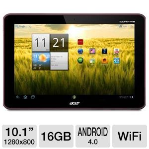 "Acer Iconia 10.1"" 16GB Android Tablet"