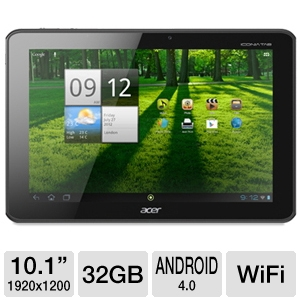 "Acer 10.1"" Tegra 3 32GB Android 4.0 FULL HD Tablet"