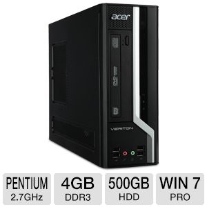 Acer Veriton Pentium 500GB HDD 4GB DDR3 Desktop PC