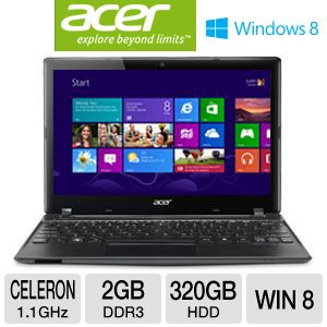 "Acer Aspire One 11.6"" Celeron 320GB Notebook"
