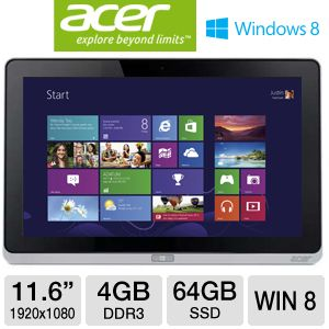 "Acer Iconia W700 11.6"" Core i3 64GB SSD Tablet"