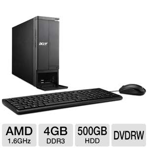 Acer AMD Dual-Core 500GB HDD Desktop PC REFURB