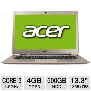 Acer Aspire S3 Core i3 500GB HDD Ultrabook