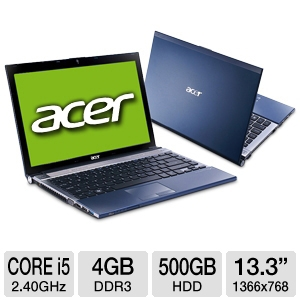 "Acer Aspire AS3830T-6870 13.3"" Blue Noteboo REFURB"