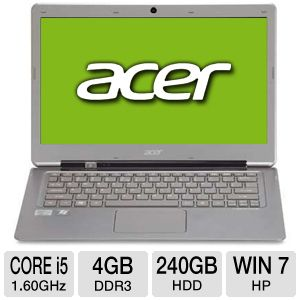 "Acer Aspire 13.3"" Core i5 4GB, 240GB SSD Ultrabook"