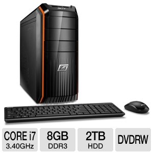 Acer Predator AG3610-UR10P Gaming Desktop computer with 3.40Ghz Intel ...