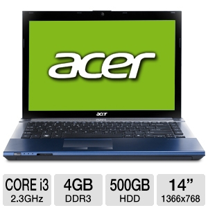 "Acer Aspire Timeline 14"" Core i3 Blue Notebook PC"