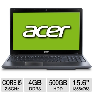 "Acer Aspire 4GB 15.6"" Black Notebook PC REFURB"