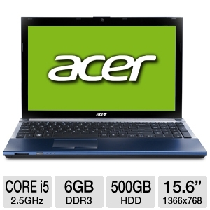 "Acer Aspire Timeline X Core i5 15.6"" Blue Notebook"