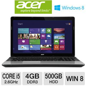 "Acer Aspire 15.6"" Core i5 500GB HDD Notebook"