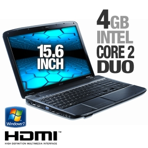 Acer Aspire Notebook w/ Intel Core 2 Duo & HDMI