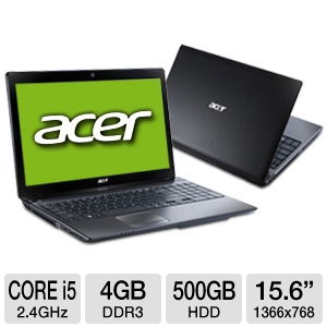 "Acer Aspire AS5750-6845 15.6"" Black Noteboo REFURB"
