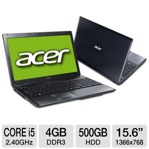 "Acer Aspire AS5755-6828 15.6"" Black Noteboo REFURB"
