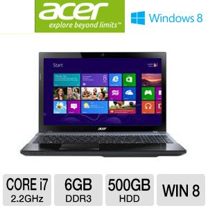 Acer Aspire Core i7 500GB HDD 6GB RAM Notebook PC