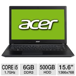 "Acer Aspire V5 15.6"" Core i5 500GB HDD Notebook"