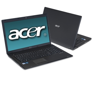 "Acer Aspire AS7741Z-4839 17.3"" Black Notebo Bundle"