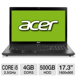 Acer Aspire 17.3&quot; Core i5 500GB HDD Notebook