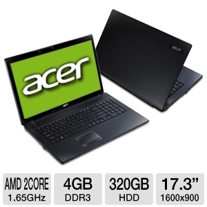 Acer Aspire AS7250-0409 17.3&quot; Black Notebook