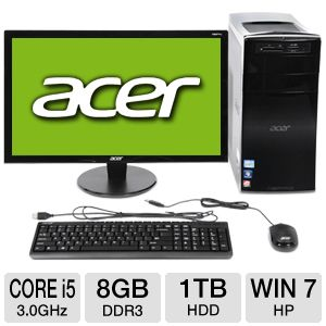 "Acer 23"" Core i5 1TB HDD 8GB DDR3 Desktop PC"