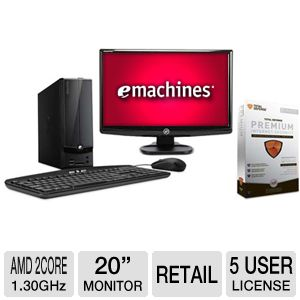 eMachines AMD E-300 500GB HDD 2GB DDR3 Desk Bundle