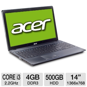 "Acer TravelMate Core i3, 4GB, 500GB, 14"" No REFURB"