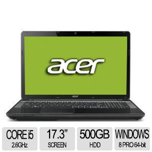 "Acer TravelMate 17.3"" Core i5 500GB HDD Notebook"