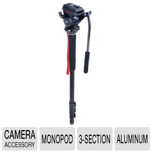 Acebil 3-Section Aluminum Monopod with DV Head