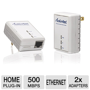 Actiontec 500Mbps Powerline Network Adapter Kit