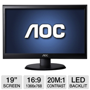"AOC e950Sw 19"" Class Widescreen LED Monitor"