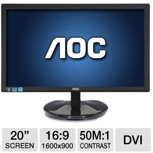 "AOC e2043Fk 20"" Class Widescreen LED Monitor"