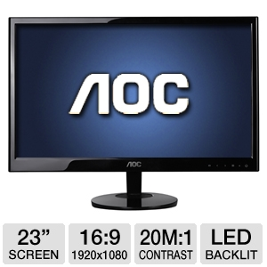 "AOC 23"" Class Widescreen LED Backlit Monitor"
