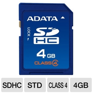 A-Data 4GB Class 4 SDHC Flash Card