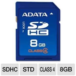 A-Data 8GB Class 4 SDHC Flash Card