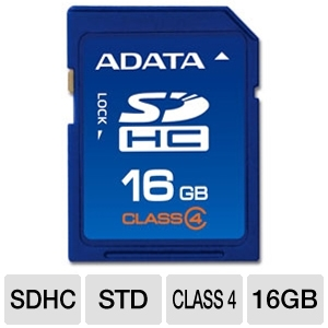 ADATA 16GB Class 4 SDHC Flash Card