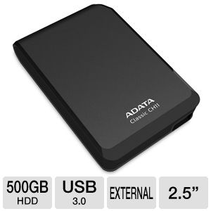 ADATA Dash Drive 500GB External HDD in Black