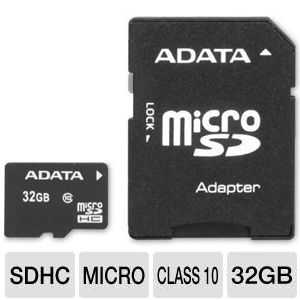 ADATA 32GB Micro SDHC Flash Memory Card
