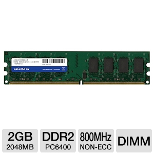 ADATA 2048MB PC6400 DDR2 Memory
