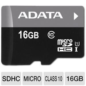 ADATA Premier 16GB microSDHC Flash Memory Card