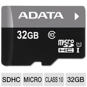 ADATA Premier 32GB microSDHC Flash Memory Card