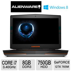 "Alienware 18"" Core i7 2GB GTX 765M Gaming Laptop"